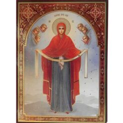 Icoana Acoperamantul Maicii Domnului – 30 x 40 cm