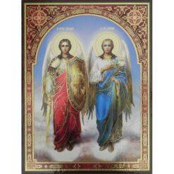 Icoana cu Sfintii Arhangheli Mihail si Gavriil – 30 x 40 cm