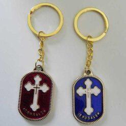 Breloc cu cruce in medalion