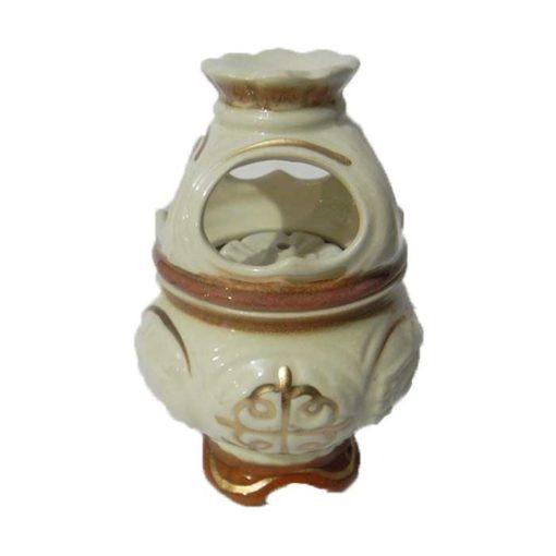 Candela din ceramica cu suport pentru tamaie