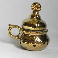 Catuie din ceramica pentru tamaiat