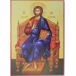 Icoana Hristos Judecatorul pe tron – 20 x 30 cm