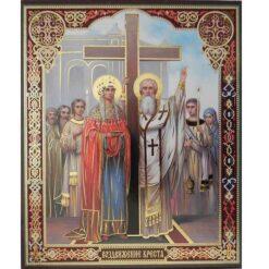 Icoana cu Inaltarea Sfintei Cruci – 20 x 24 cm