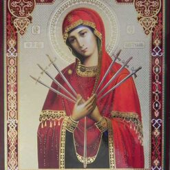 Icoana Maica Domnului cu 7 sageti – 20 x 24 cm