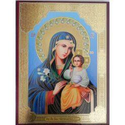 Icoana cu Maica Domnului cu crinul – 30 x 40 cm