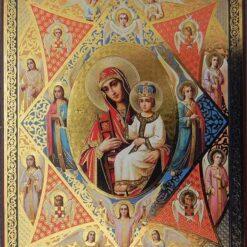 Icoana Maica Domnului cu cei patru Evanghelisti – 20 x 24 cm
