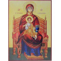 Icoana Maica Domnului pe tron – 20 x 30 cm