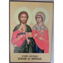 Icoana cu Sfintii Adrian si Natalia – 20 x 30 cm