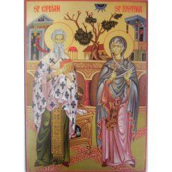 Icoana cu Sfintii Ciprian si Iustina – 20 x 30 cm