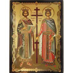 Icoana cu Sfintii Imparati Constantin si Elena- 30 x 40 cm