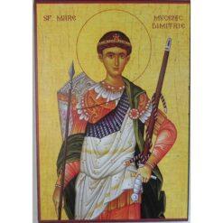 Icoana cu Sf. Dimitrie Izvoratorul de Mir – 20 x 30 cm