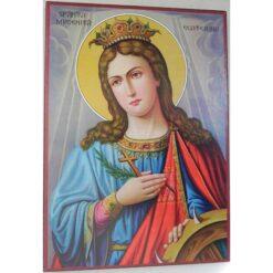 Icoana cu Sf. Ecaterina – 20 x 30 cm