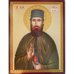 Icoana cu Sf. Efrem cel Nou – 30 x 40 cm