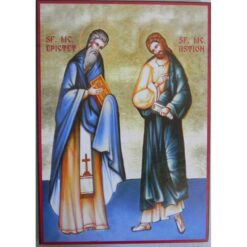 Icoana cu Sfintii Epictet si Astion – 20 x 30 cm