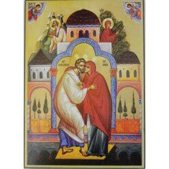 Icoana cu Sfintii Parinti Ioachim si Ana – 20 x 30 cm