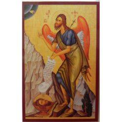 Iconita plastifiata cu Sf. Ioan Botezatorul – 5 x 8 cm