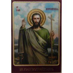 Icoana plastifiata cu Sf. Ioan Botezatorul – 5 x 8 cm
