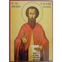 Icoana cu Sf. Ioan Iacob Hozevitul – 20 x 30 cm