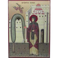 Icoana cu Sf. Imparateasa Irina – 20 x 30 cm