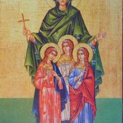 Icoana cu Sf. Sofia si fiicele ei – 20 x 30 cm