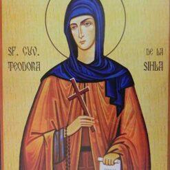 Icoana cu Sf. Teodora de la Sihla – 20 x 30 cm