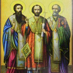 Icoana cu Sfintii Trei Ierarhi: Vasile, Grigorie si Ioan – 20 x 30 cm