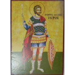 Icoana cu Sf. Victor – 20 x 30 cm