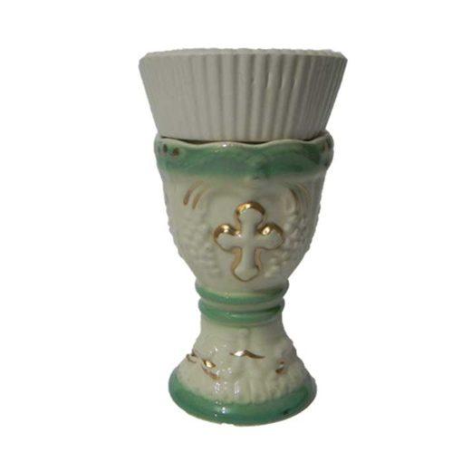 Candela din ceramica cu model de vita de vie