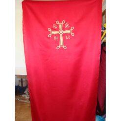 Dvera brodata cu o cruce bizantina