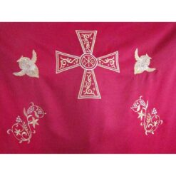 Dvera brodata cu struguri, spice, serafimi si cruce bizantina
