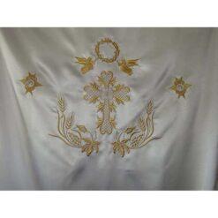 Dvera brodata cu struguri, spice, serafimi si ingeri cu coroana