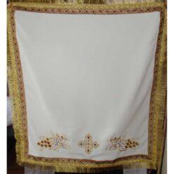Acoperamant pentru iconostas brodat cu cruce si struguri (scurt)