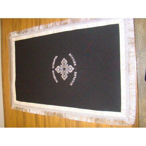 Acoperamant personalizat pentru Sf. Evanghelie brodat cu cruce si numele parohiei sau manastirii