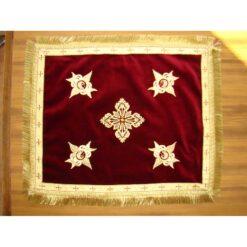Acoperamant pentru Sf. Evanghelie brodat cu cruce si serafimi