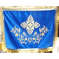 Acoperamant pentru Sf. Evanghelie brodat cu cruce, struguri si spice