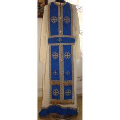 Epitrahil brodat cu cruci bizantine mari si mici
