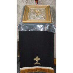 Acoperamant pentru iconostas brodat cu o cruce (lung)