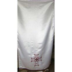 Acoperamant pentru iconostas brodat cu o cruce bizantina (lung)