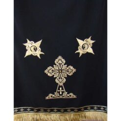 Acoperamant pentru iconostas brodat cu o cruce si doi serafimi (lung)