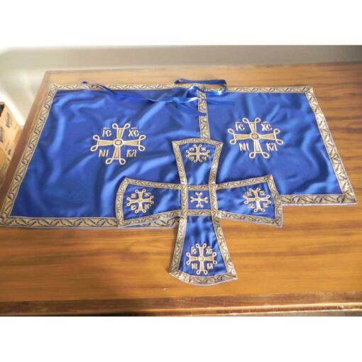 Acoperaminte pentru Sfinte Vase brodate cu cruci bizantine – diferite culori