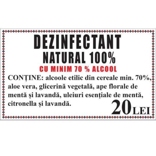 Dezinfectant natural cu alcool (min. 70%), aloe vera si uleiuri esentiale