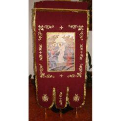 Steag bisericesc (prapur) brodat cu o singura fata cu icoana la alegere