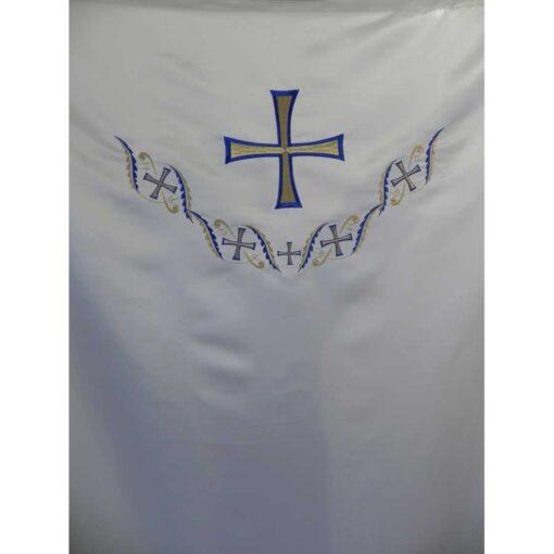 Dvera brodata cu cruce si modele bizantine