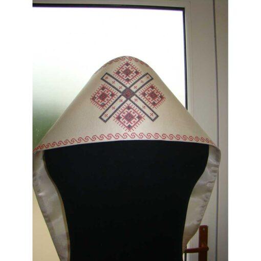 Omofor mic si epitrahil brodate cu model traditional romanesc in punct cruciulita